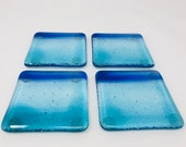 Fused Glass Coasters, Newlywed Gift, New House Gift, Beer Coasters
