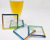 Beer Coasters, Drink Coasters, Glass Coasters, Table Coasters, Modern Coasters, Beach Table Coasters, Square Coasters