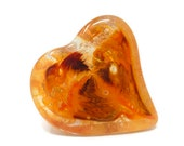 Paperweight Glass, Glass Hearts, Handmade Hearts, Heart Paperweight, Desk Accessories, Mothers Day Gift