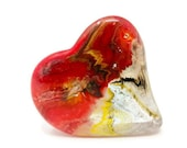 Red Paperweight, Red Heart, Paperweight Glass, Heart Figurine, Glass Hearts, Heart Paperweight, Desk Accessories, Heart Collectible, Heart