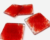 Fused Glass Coasters, Red Coasters, Beer Coasters, Alcohol Coasters, Wine Coasters, Beach Coasters, Square Coasters, Thick Coasters