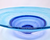 Fused Glass Bowl, Unique Wedding Gift for Couple, Beach House Decor