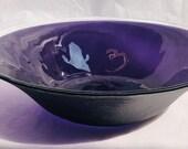 Purple Bowl, Art Glass Bowl, Decorative Bowl, Fruit Bowl, Anniversary Gift, Wedding Bowl, Fused Glass Art, Kitchen Bowl