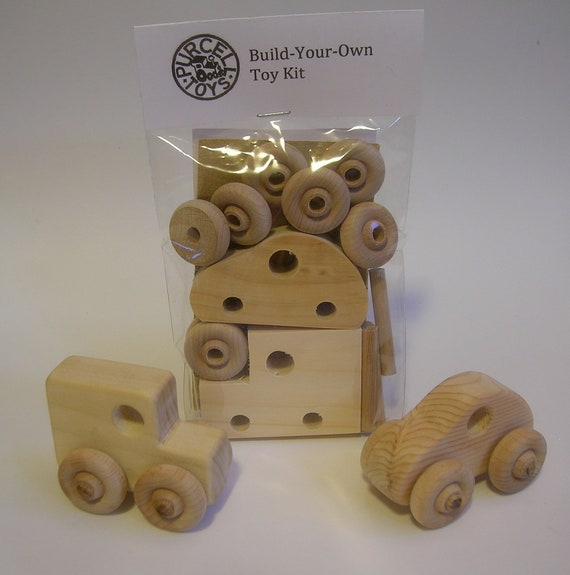 Items similar to Handcrafted Wooden Build Your Own Toys ...