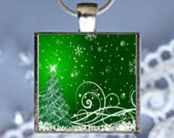 Pendant Necklace Christmas Tree