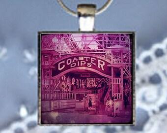 Pendant Necklace Carnival Roller Coaster
