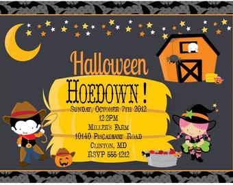 Halloween Hoedown Printable Party Invitation, Farmhouse Halloween, Halloween Birthday Party, Halloween Festival, Halloween party, Harvest