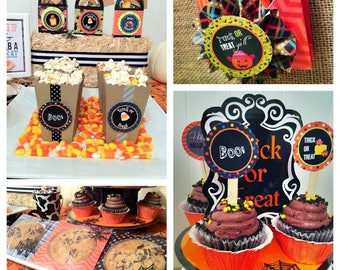 Halloween Hoedown Cupcake Toppers   Halloween Party   Halloween   Hayride   Halloween Farm Party   Halloween Festival   Halloween Party Tags