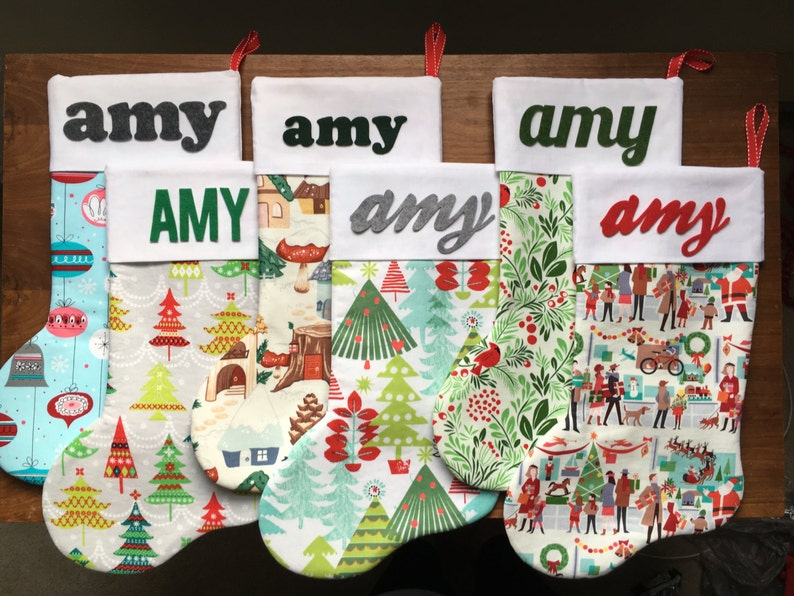 Personalized Christmas Stocking Fancy Reindeer Party; Christmas Gift; Christmas Decor; Holiday; Christmas; Stocking; Woodland
