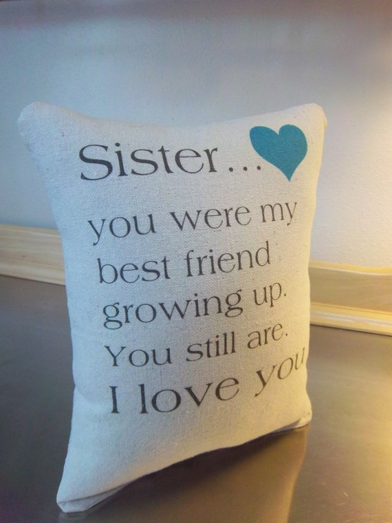 Sister Quote Pillow Gift Brother To Sentimental Cushion