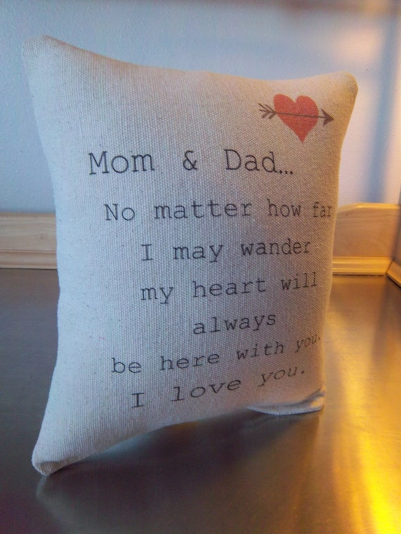 Gift For Parents Mom And Dad Pillow Mom Dad Anniversary Gift Etsy