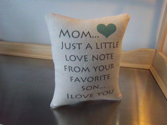 Mom Gift Pillow To From Son Mama Birthday Cotton