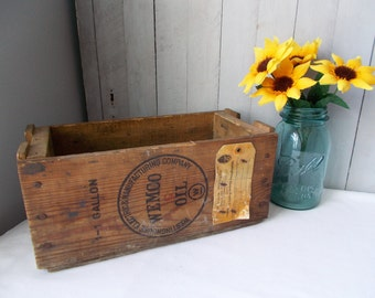 Vintage Westinghouse Wemco Oil Wood Box Crate