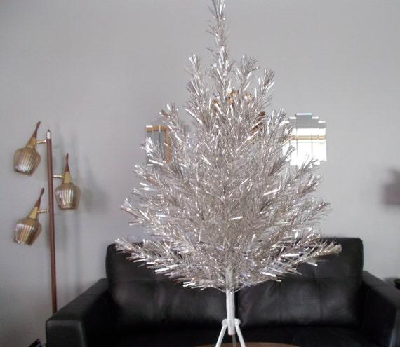 Vintage Silver Aluminum Christmas Tree