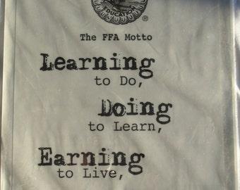 FFA Motto acid free clear sticker