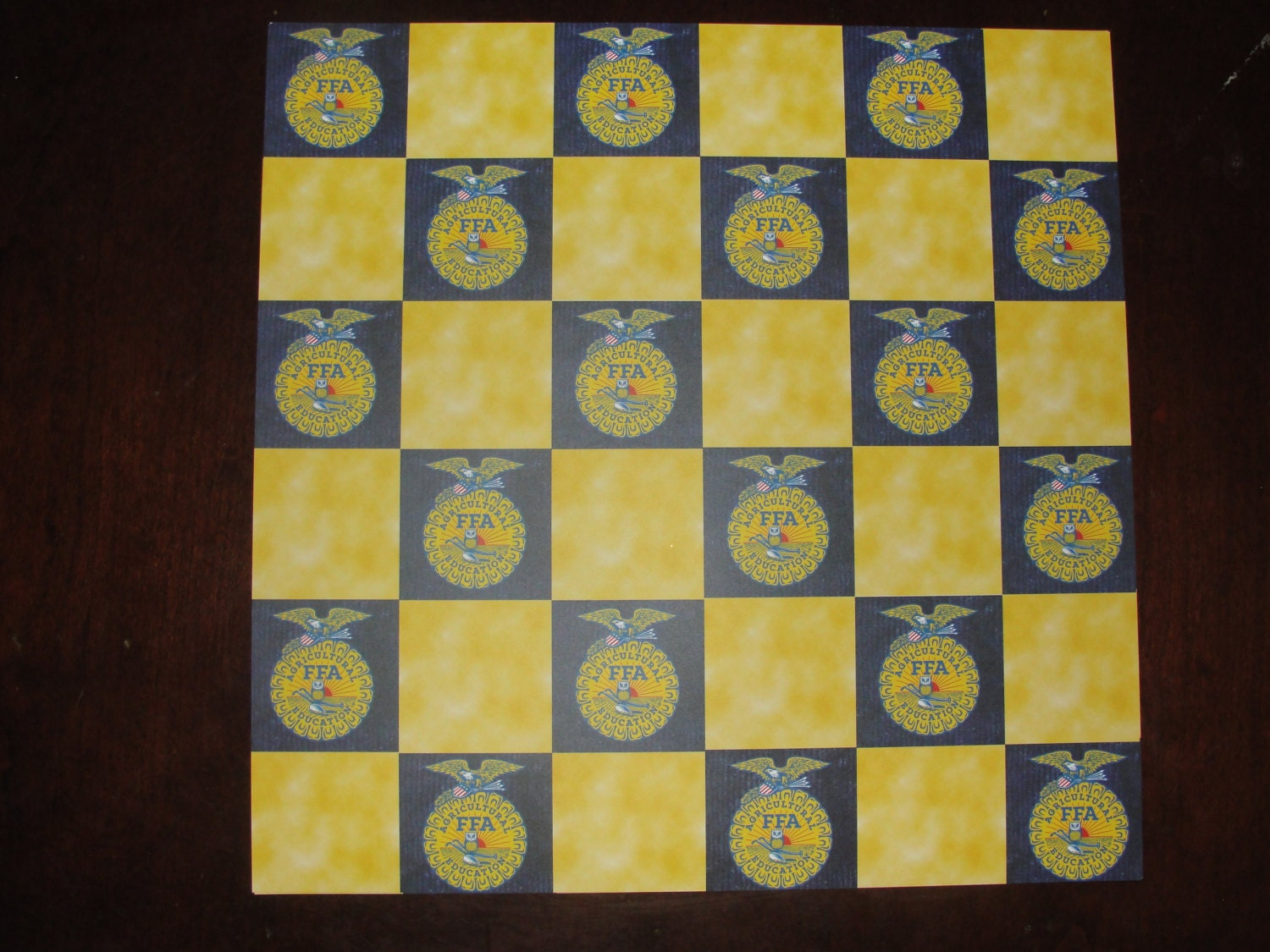 12x12 Ffa Checker Board Pattern Scrapbook Paper Etsy