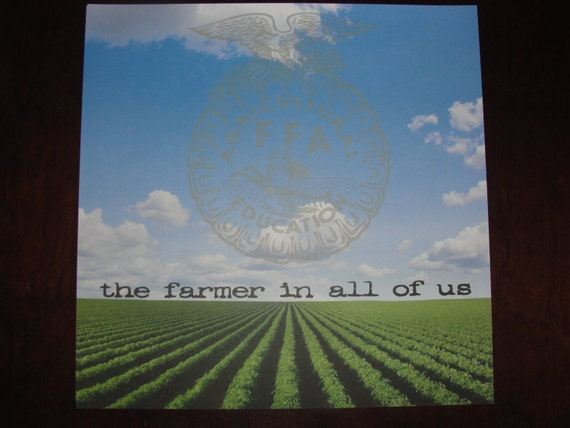 Ffa Scrapbook 12x12 Paper The Farmer In All Of Us Etsy