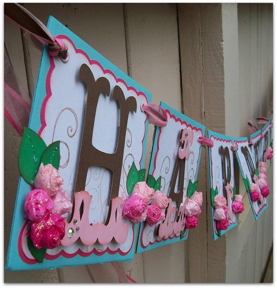 Happy Birthday String Handmade Banner