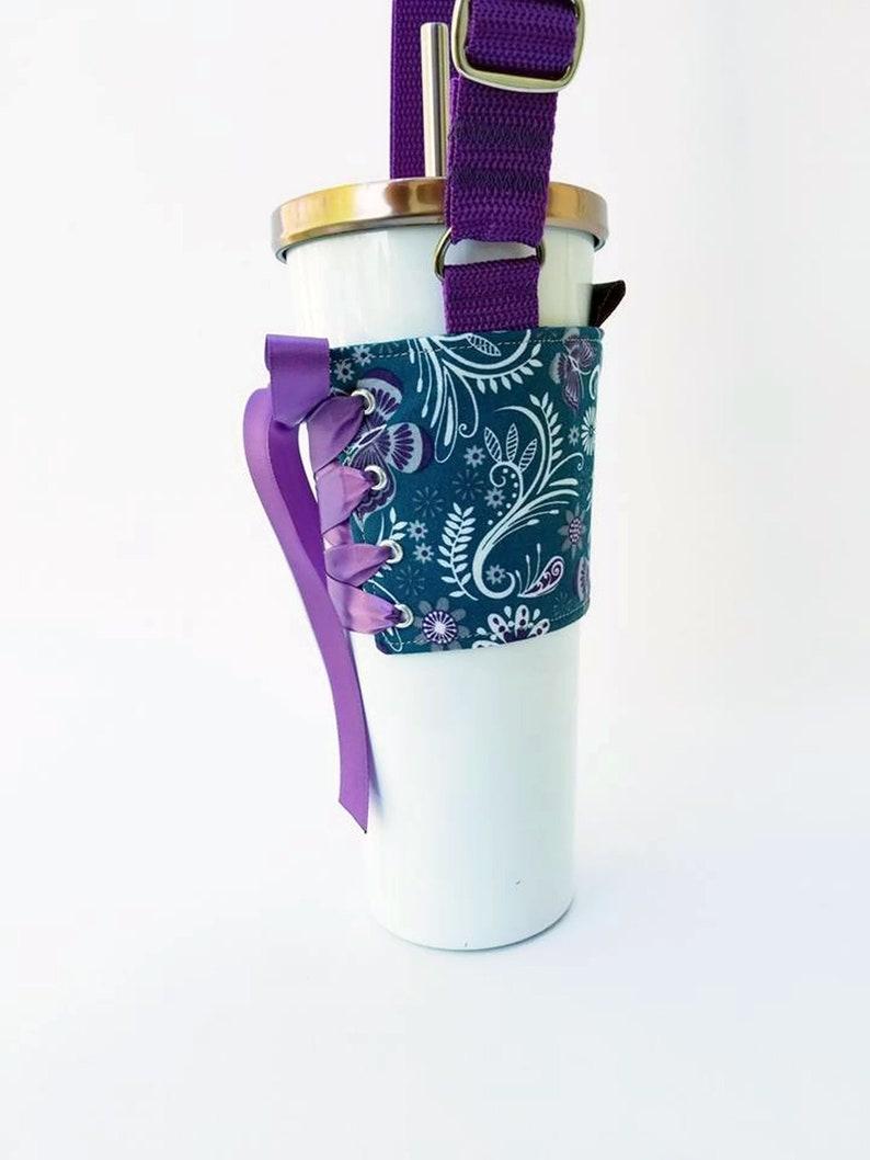 Tumbler Carrier  Butterfly Garden Drink Carrier Cup Holder image 0