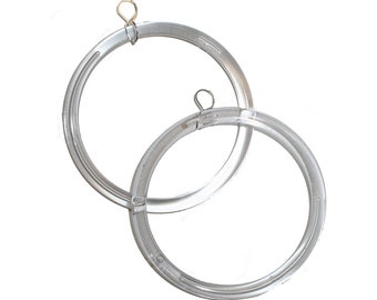 5d54171ca Clear Hoop Earrings - huge clear hoop earrings unique glass like weird hoop  jewelry hoop earrings big hoops small hoops