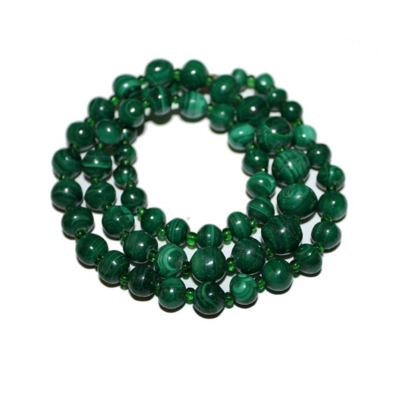 Vintage 80s Malachite Necklace rare Jewelrysilver jewelryWoman jewelryVintage stoneVintage Accessory Gift for her