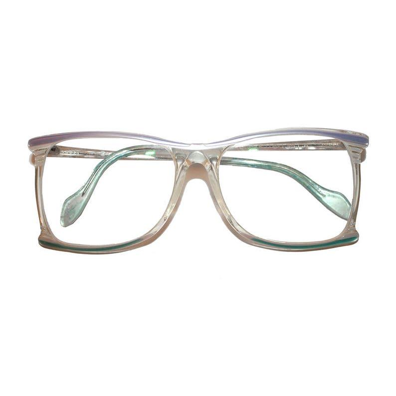 39b163dfb6d Vintage Neostyle Grandma Glasses vintage blue purple white