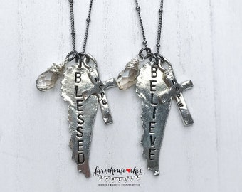BELIEVE Wing Necklace