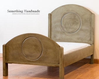Toddler bed  handmade  you choose color and finish  antiqued, distressed