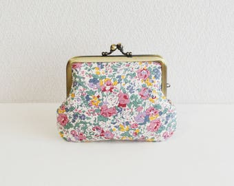 "Liberty ""Claire-Aude"" floral coin purse | purple, berry, chic"
