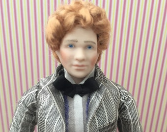 OOAK - 1/12 th scale dolls house doll.Handsome period man