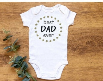 Best Dad Ever Baby Vest - Funny Baby Gift- Newborn Gift- Funny Gift- Newborn Vest- New Baby Gift- Baby Boy- Baby Girl- Onesie
