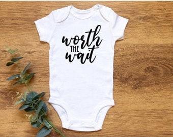 Worth The Wait Baby Gift- Newborn Gift- Funny Gift- Newborn Vest- New Baby Gift- Baby Boy- Baby Girl- Onesie
