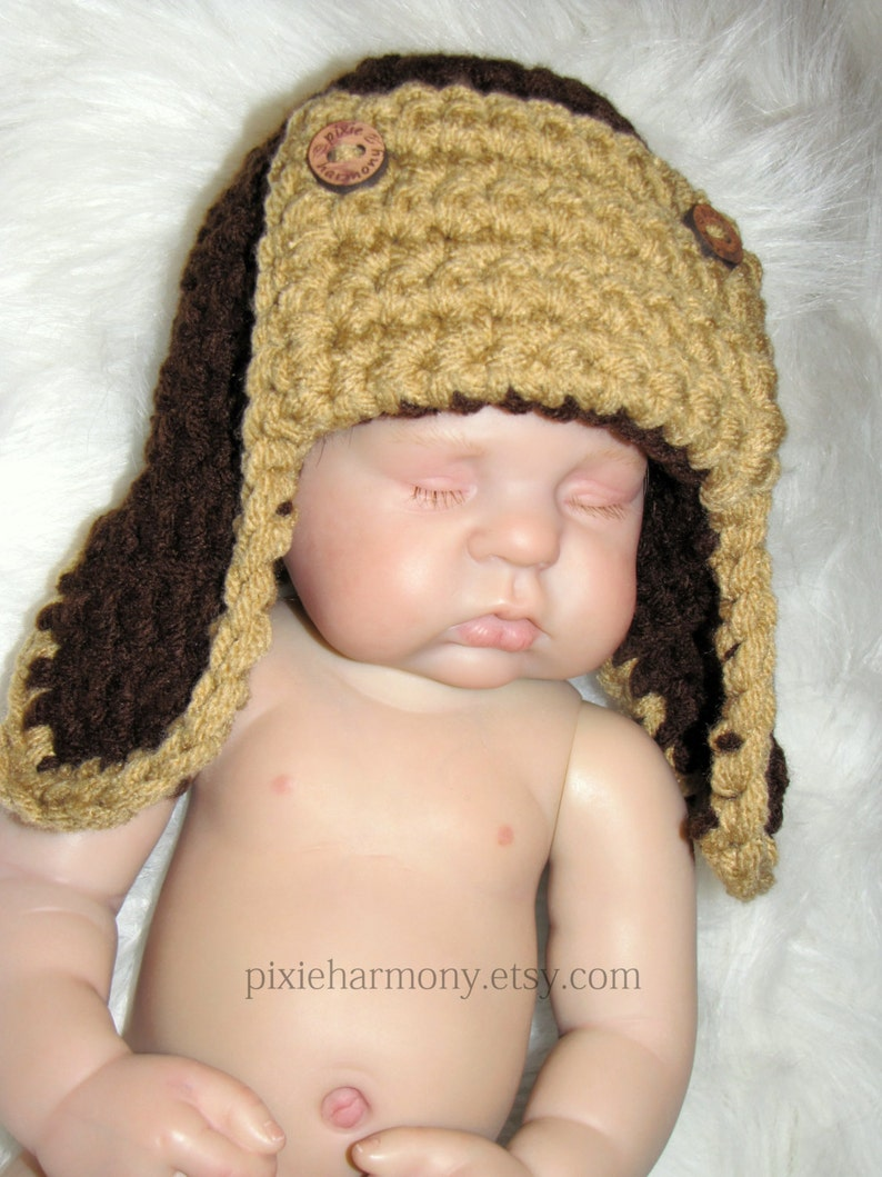 a47b2432a Baby Lumberjack Hat - Logger Hat - Newborn to 3 Months - ANY Color -  Outdoorsman Hat - Crochet Photo Prop
