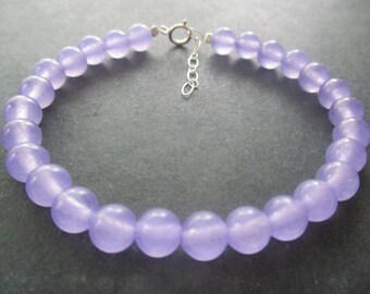 15 strand of 6mm ball beads Chalcedony #CHAL-053 Approx 65 beautiful gemstone beads Lavender Purple