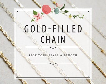 Gold Filled Chain - Classic, Satellite, Ball, Box, Cable and Double Rope Style