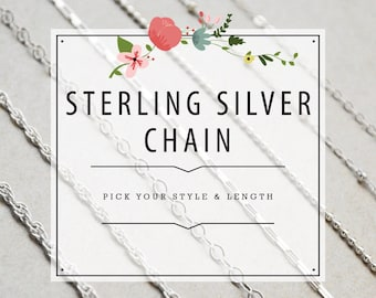 Sterling Silver Filled Chain - Classic, Satellite, Ball, Box, Cable and Double Rope Style