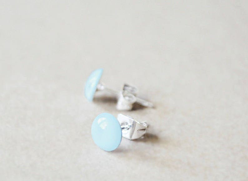 Sterling Silver Studs  Post Earrings  Any Color image 0