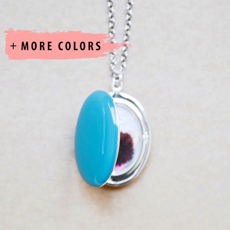 Large Oval Custom Photo Locket  Pendant Style Necklace image 0