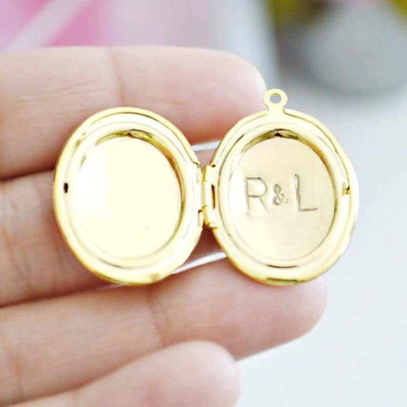 Large Letter Stamping Service  Personalize any LARGE locket image 0