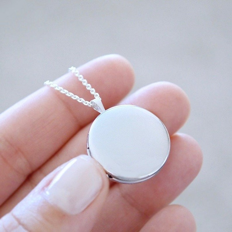 Large Sterling Silver Locket  Heirloom Pendant Style Necklace image 0