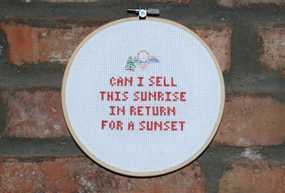 The Starting Line Cross Stitch Lyrics Left Coast Envy From Say It Like You Mean It