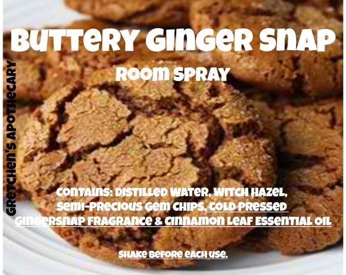 Buttery Gingersnap Room Spray bttr009 Gingersnap, Vanilla, Cinnamon Leaf & Gemstone Chips