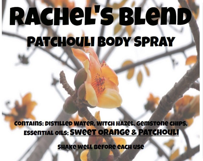 Rachel's Blend Sweet Orange Patchouli Body Spray rchl030