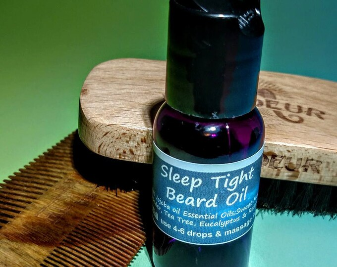 Sleep Beard Oil - Jojoba,Sweet Marjoram,Lavender,Tea Tree,Eucalyptus, Rosemary- Mens gift - Relaxation - Calm - Aromatherapy- essential oil