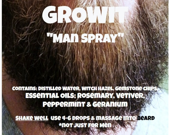 "Growit ""Man Spray"" *not just for Men with Essential Oils Rosemary, Vetiver, Peppermint and Geranium"
