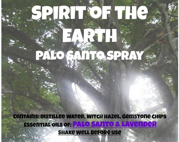 Spirit of the Earth Palo Santo Lavender Space Cleansing Spray Liquid Smudging whts042