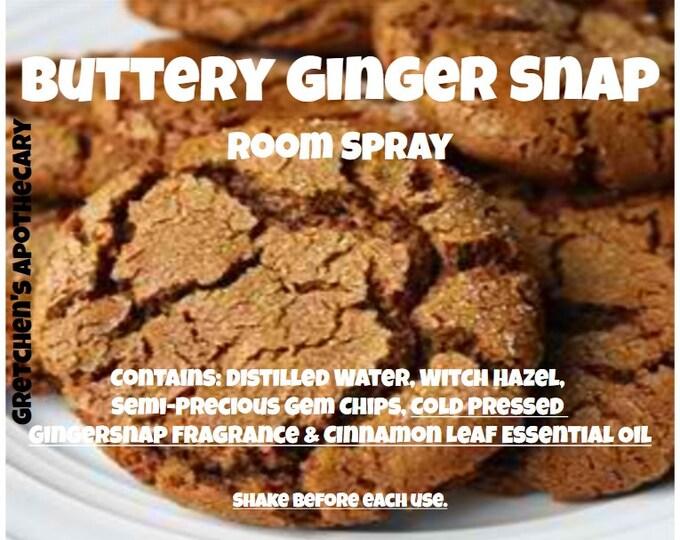 Buttery Gingersnap Room Spray bttr009 Gingersnap, Vanilla, Cinnamon Leaf & Gemstone Chips
