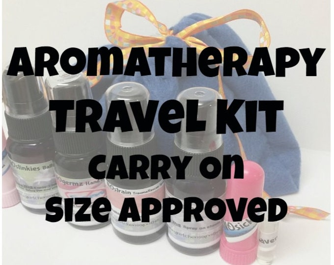 Travel Aromatherapy Kit 1oz Sprays trvl036  Trauma, Linen, Bathroom, Hand cleaner and more!