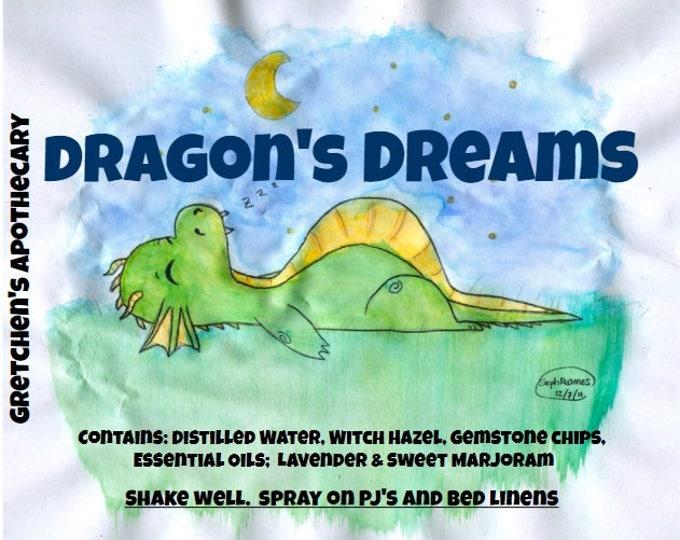 Sleep Linen PJ's Spray Sweet Orange, Lavender, Ylang Ylang & Gemstone Chips Insomnia Sleepy Relax Natural Room Body 2 Versions