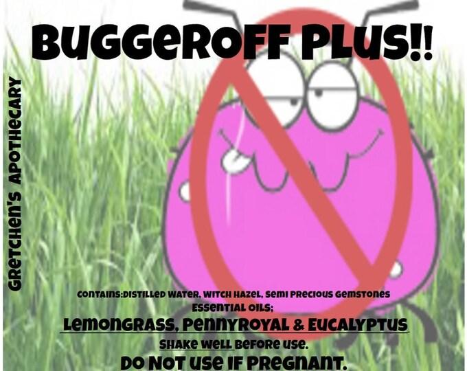 BuggerOFFPlus!!! with lemongrass, Penny Royal, Eucalyptus & Semi Precious Gemstones 4oz